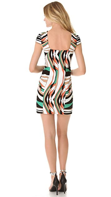 4.collective Wave Cap Sleeve Dress