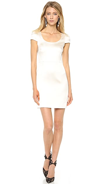 4.collective Satin Cap Sleeve Fitted Dress