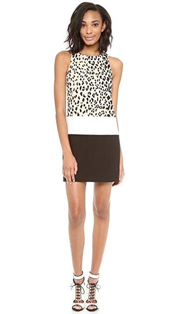 4.collective Sleeveless Fitted Leopard Dress