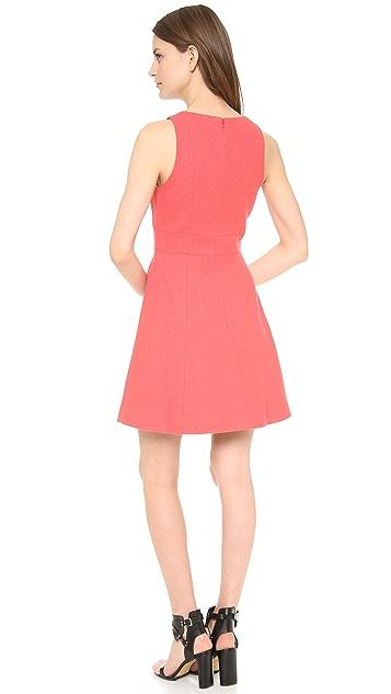 4.collective V Neck Flirty Yoked Dress