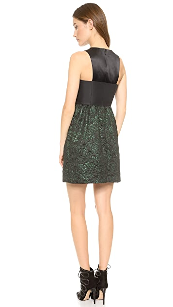 4.collective Strappy Flirty Brocade Dress