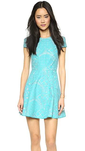 4.collective Lilou Mosaic Flirty Dress
