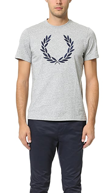 Fred Perry Textured Laurel Wreath Tee