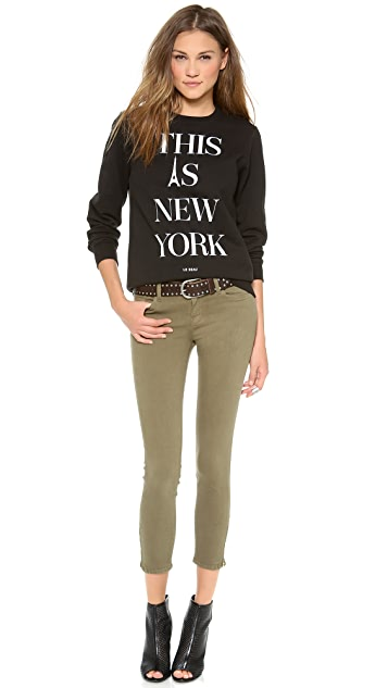 FRAME Le Color Crop Jeans with Zip