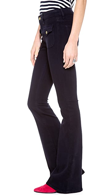 FRAME Le High Flare Flap Pocket Jeans