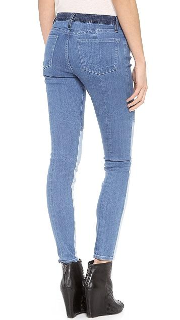 FRAME Le Skinny Colorblock Jeans