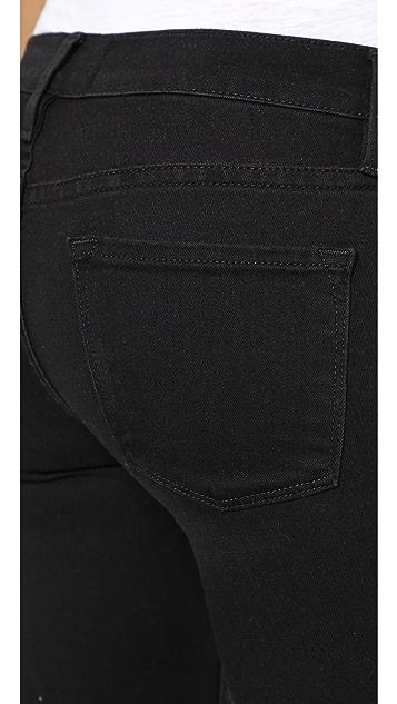 FRAME Le Skinny Moto Crop Jeans