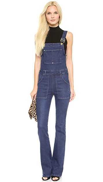 FRAME Le High Flare Overalls