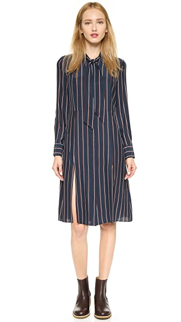 FRAME Le Tie Shirtdress