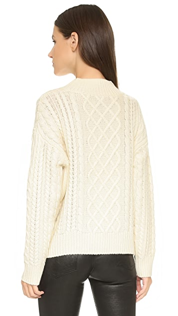 FRAME Cable Sweater