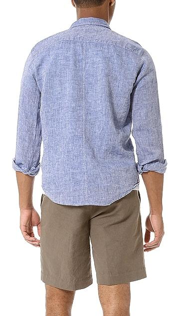 Frank & Eileen Melange Linen Sport Shirt