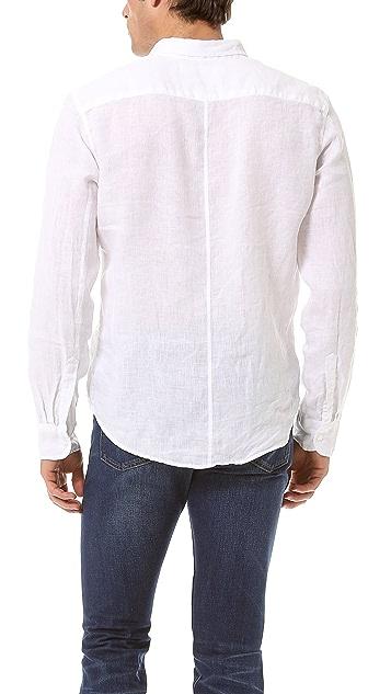 Frank & Eileen Solid Linen Sport Shirt