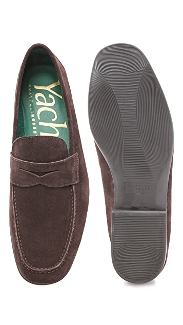 Fratelli Rossetti Yacht Suede Penny Loafers