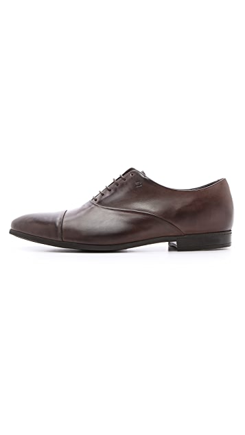 Fratelli Rossetti Nappa Cap Toe Oxfords with Rubber Sole