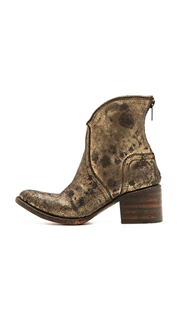 FREEBIRD by Steven Peak Metallic Zip Booties