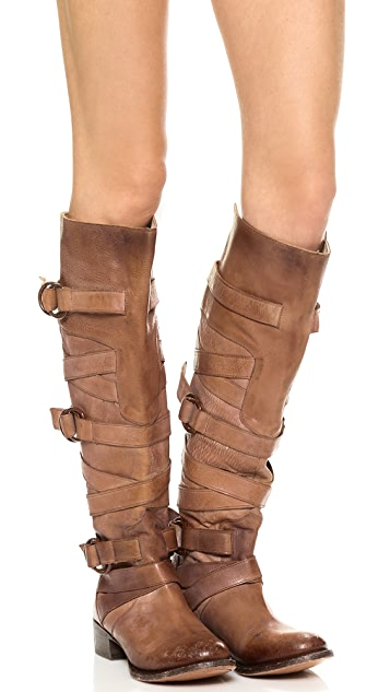 FREEBIRD by Steven Ojai Tall Wrap Strap Boots