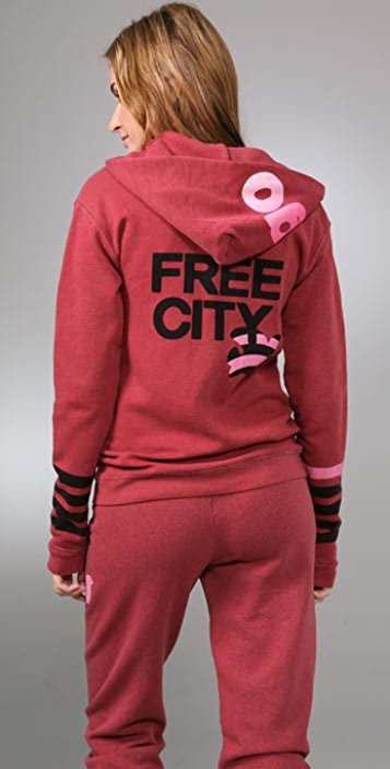 FREECITY Striped Dove Lets Go Hoodie
