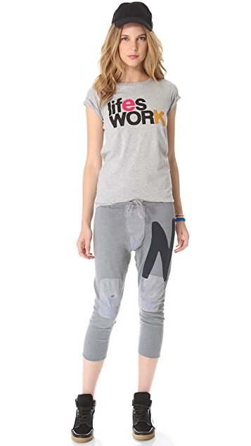 FREECITY Giant Letter Digger Sweatpants