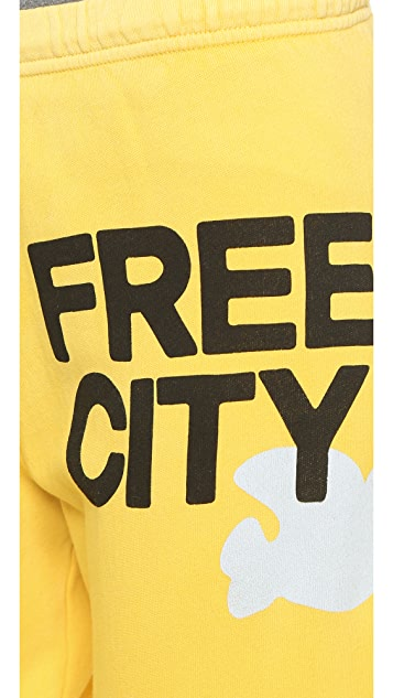 FREECITY Large Glass Wash Sweats