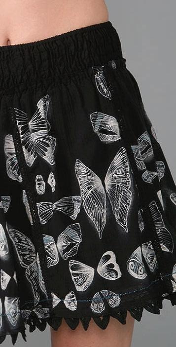 Free People Butterfly Dirndl Skirt