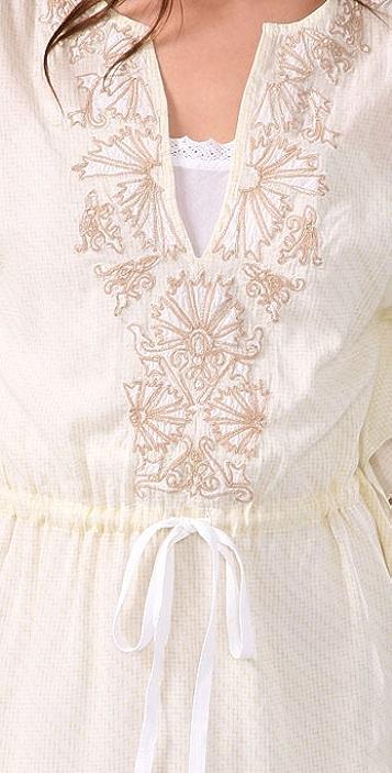 Free People Prickly Poppy Cotton Caftan Dress