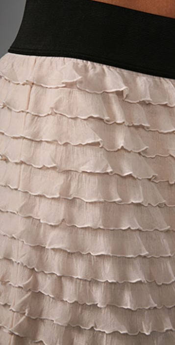 Free People Ruffle Miniskirt