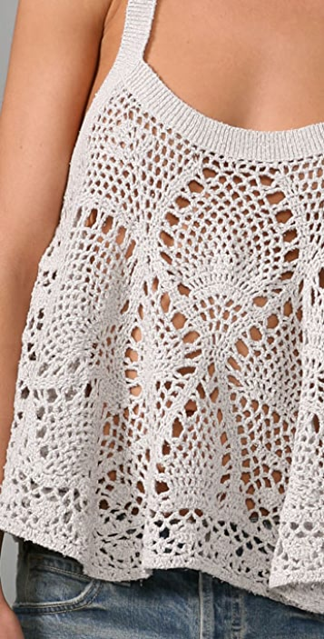 Free People Carefree Crochet Camisole