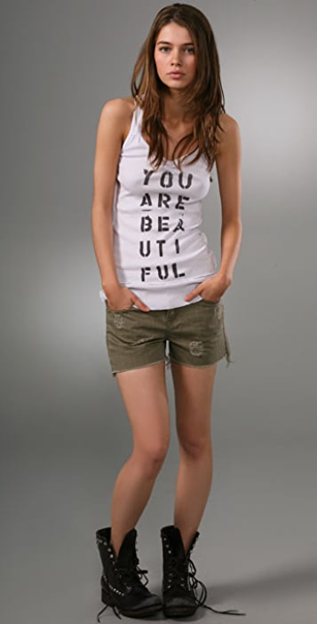 Free People We The Free Twisted Text Tank