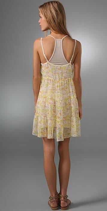 Free People Chiffon Tiered Slip Dress
