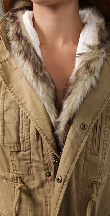 Free People We the Free Faux Fur Trimmed Parka