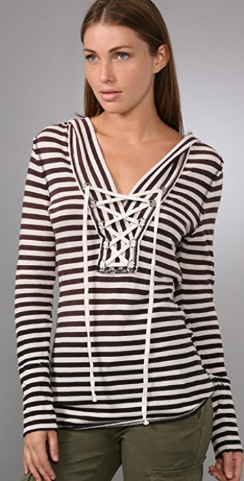 Free People We the Free Glory Stripe Hoodie