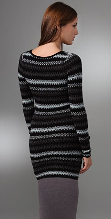 Free People Jagged Stripe Pullover Sweater