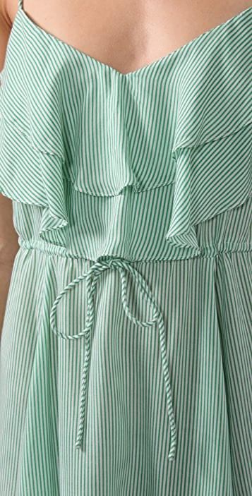 Free People Striped Flutter Away Dress