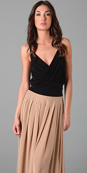 Free People Champagne Cropped Camisole