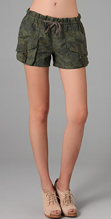 Free People Patch Pocket Camo Shorts