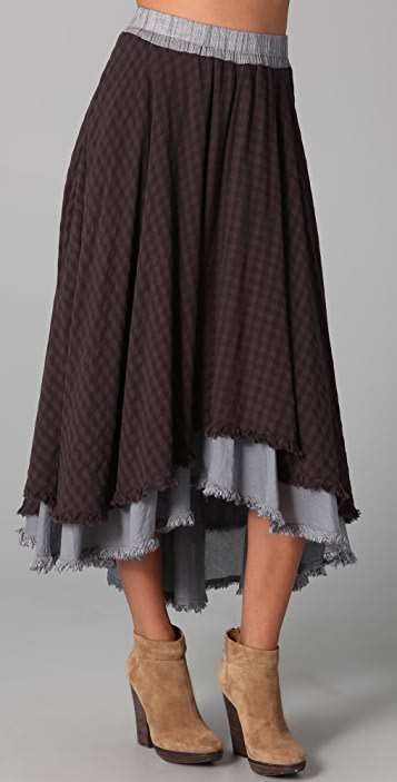 Free People High Low Midi Skirt