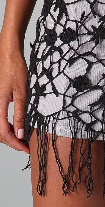 Free People Fringed Lace Tunic Dress