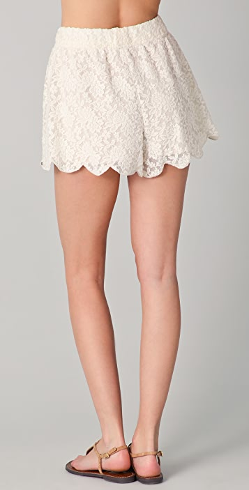 Free People Scalloped Lace Shorts