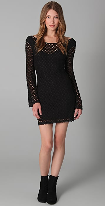 05d2839647ca Free People Gypsy Lace Body Con Dress