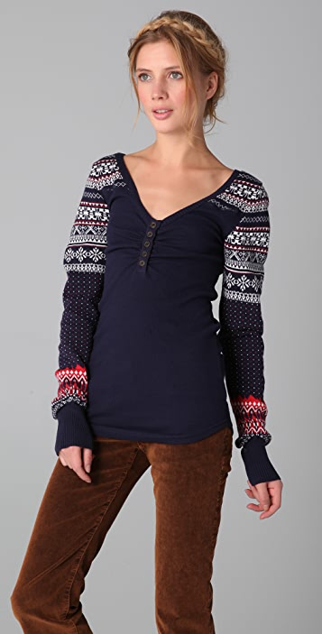 Free People Cabin Fever Thermal Top Shopbop
