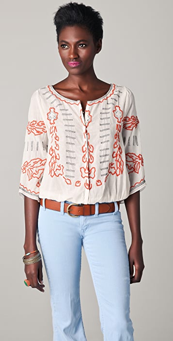 Free People Mayfair Banded Top