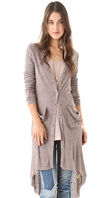 Free People Bonita Ribbed Up Cardigan Dress