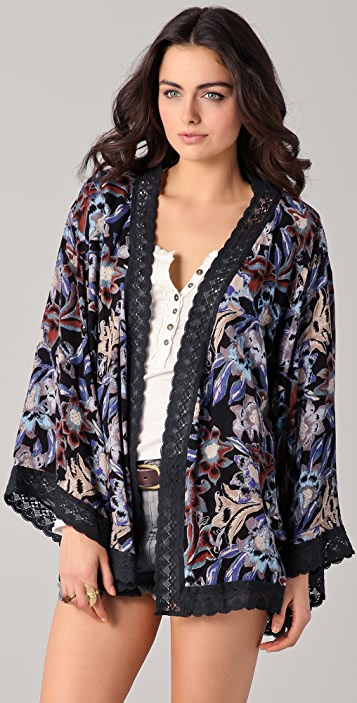 Free People Snap Out of It Boca Kimono Robe