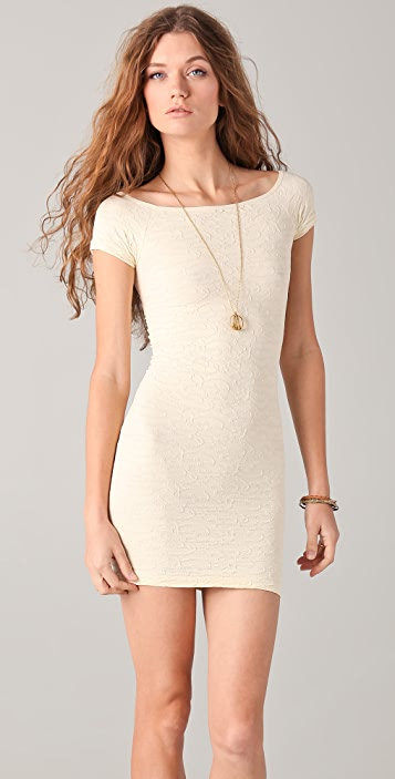 Free People Off Shoulder Textured Dress