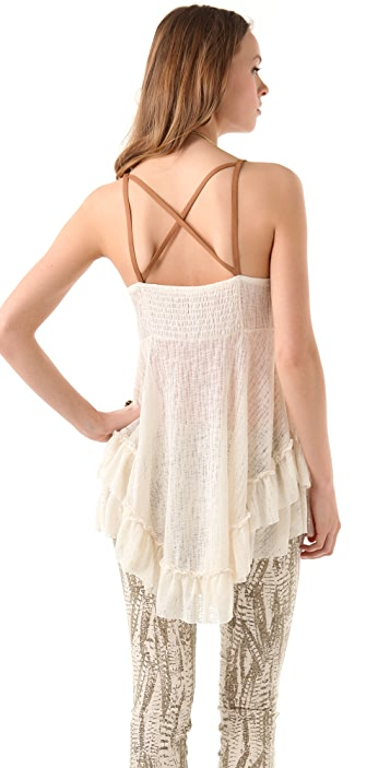 Free People Lacy Babydoll Top