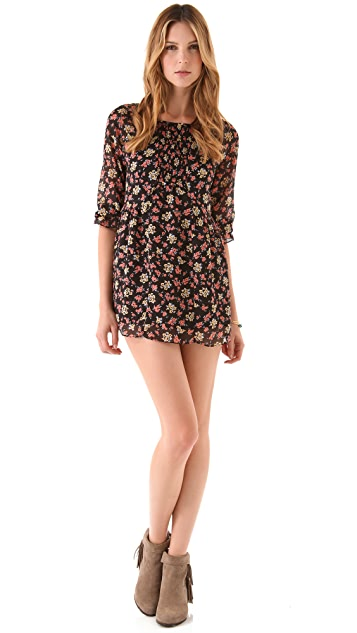 Free People Printed Molly Mini Dress