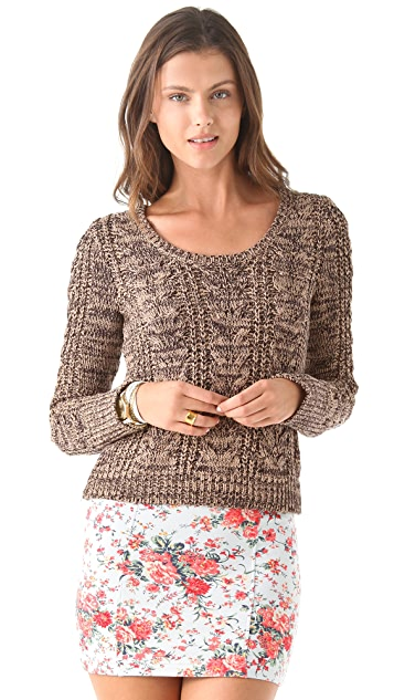 Free People Cabletown Pullover