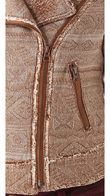Free People Tapestry Moto Jacket