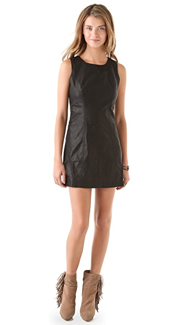 Free People Faux Leather Shift Dress