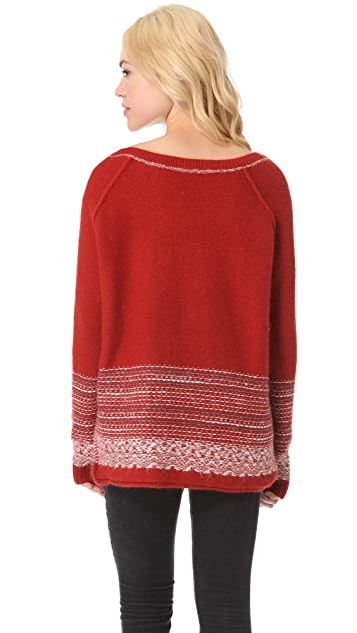Free People Reindeer Lover Pullover